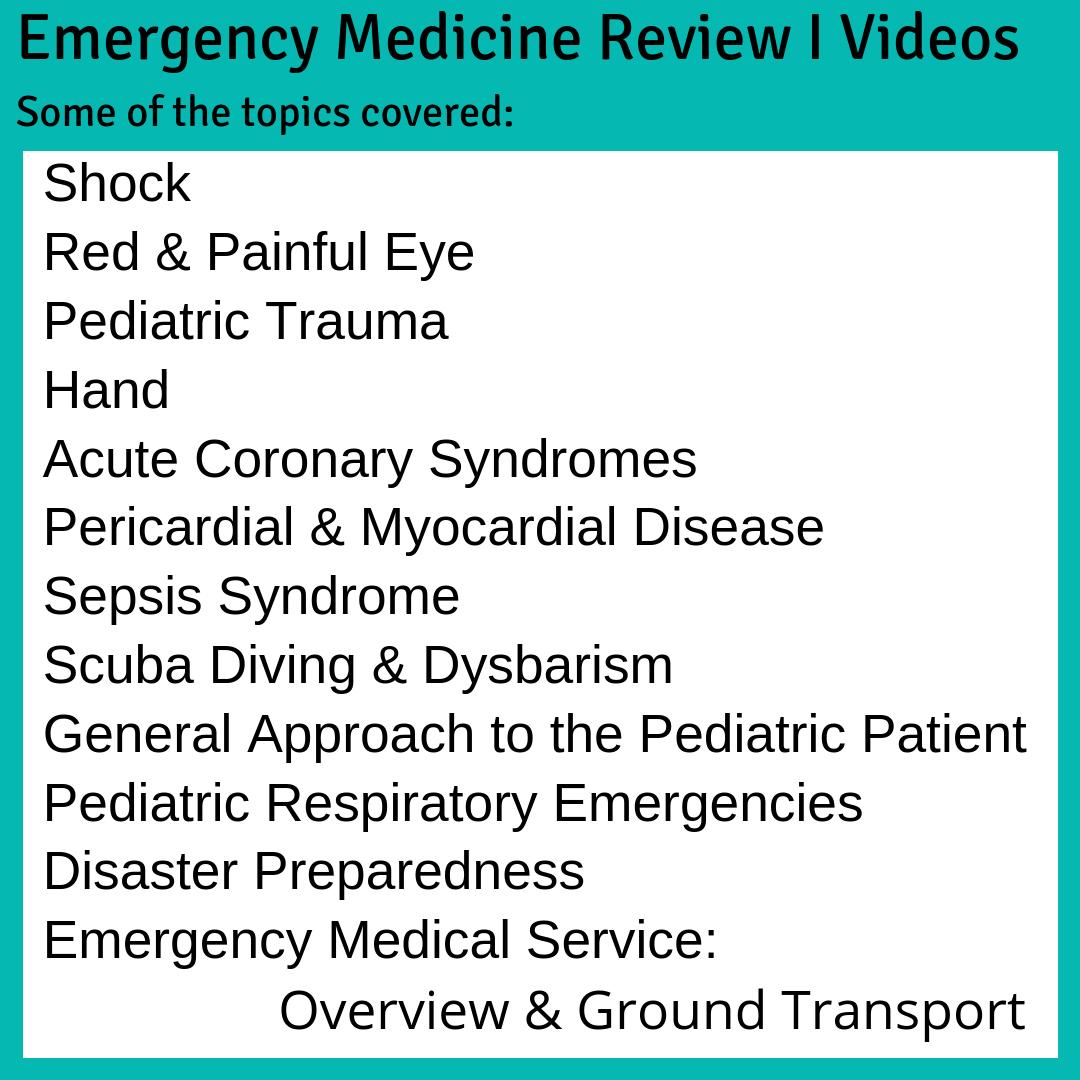 Emergency Medicine Review (EMR) - CAEP