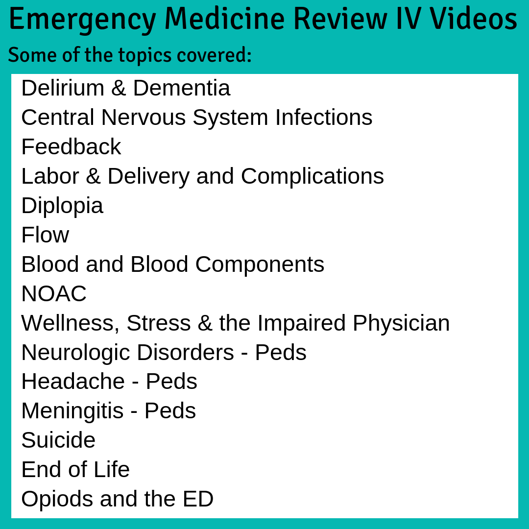Emergency Medicine Review (EMR) - CAEP